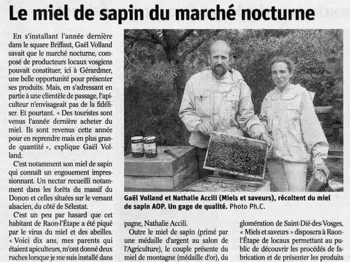 Le miel de sapin du marché nocturne de Gérardmer
