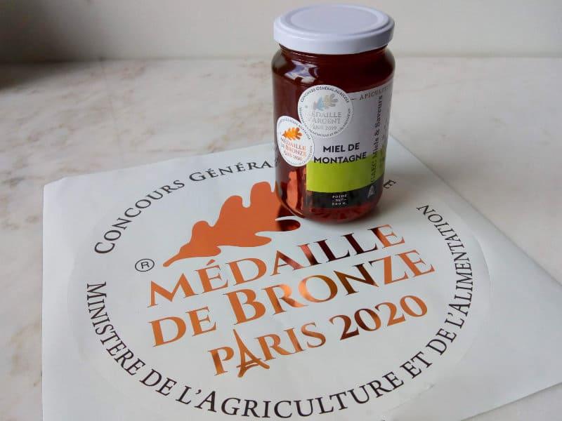 miel de montagne médaille de bronze 2020